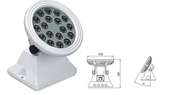 Ilipigwa mwanga wa dmx,Taa za mafuriko ya LED,25W 48W Washer wa ukuta wa LED 1, LWW-6-18P, KARNAR INTERNATIONAL GROUP LTD